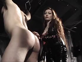 Busty Dominatrix Plays With Bold Guy